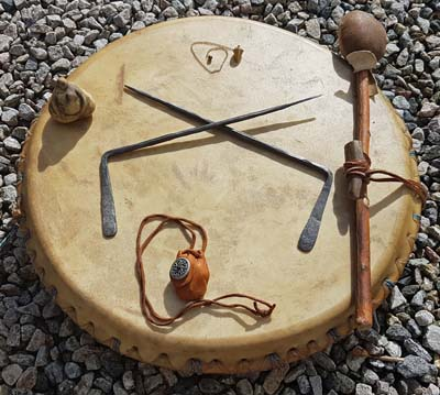 400 shamanic dowsing drum